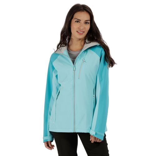 Regatta WOMEN'S BIRCHDALE WATERPROOF SHELL JACKET - Horizon / Aqua